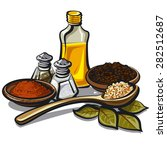 condiments and flavoring | Shutterstock .eps vector #282512687