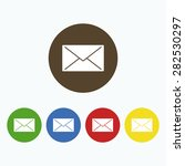 simple closed envelope icon. | Shutterstock .eps vector #282530297
