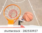 high angle view of young man... | Shutterstock . vector #282533927