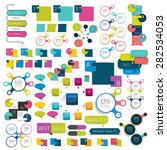 collections of info graphics... | Shutterstock .eps vector #282534053