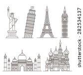 landmark icons. statue of... | Shutterstock .eps vector #282534137