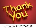 3d thank you | Shutterstock . vector #282546107