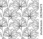 vector seamless monochrome... | Shutterstock .eps vector #282546473