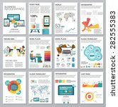 big set of infographics... | Shutterstock .eps vector #282555383