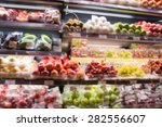 supermarket in blurry for... | Shutterstock . vector #282556607