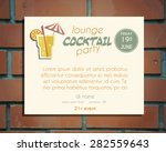lounge cocktail party poster... | Shutterstock .eps vector #282559643