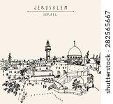jerusalem  israel old city... | Shutterstock .eps vector #282565667