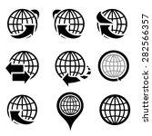 globe icons vector. | Shutterstock .eps vector #282566357
