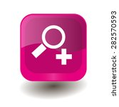 pink square button with white... | Shutterstock .eps vector #282570593