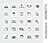 business total vector icon set  ... | Shutterstock .eps vector #282582773