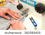 processes of sewing on the... | Shutterstock . vector #282583433