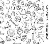 hand drawn doodle sport... | Shutterstock .eps vector #282590393