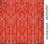 seamless ethnic pattern with... | Shutterstock .eps vector #282592907