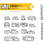 recreational vehicles line icons | Shutterstock .eps vector #282592937