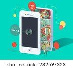 flat 3d web isometric... | Shutterstock .eps vector #282597323