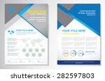 vector brochure flyer design...   Shutterstock .eps vector #282597803