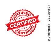 certified grunge retro red... | Shutterstock .eps vector #282604577