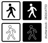 man walk icon vector | Shutterstock .eps vector #282614753