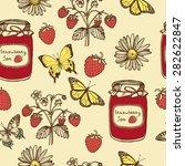 hand drawn vintage summer... | Shutterstock .eps vector #282622847