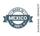 made in mexico 100    round... | Shutterstock .eps vector #282646157