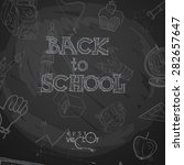 back to school background.... | Shutterstock .eps vector #282657647