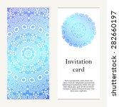 invitation card on wedding ... | Shutterstock .eps vector #282660197
