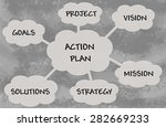 action plan diagram over grey... | Shutterstock . vector #282669233