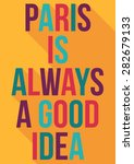 flat graphic design for paris... | Shutterstock .eps vector #282679133