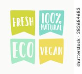 natural and vegan flag tags | Shutterstock .eps vector #282684683