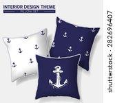 decorative indigo   white... | Shutterstock .eps vector #282696407