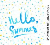 summer watercolor design.... | Shutterstock .eps vector #282699713