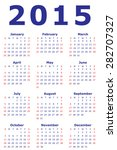 simple european 2015 year... | Shutterstock .eps vector #282707327