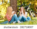 Two Young Beautiful Girls With...