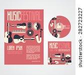 music festival poster...   Shutterstock .eps vector #282723227