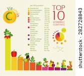 top 10 fruits and vegetables... | Shutterstock .eps vector #282728843