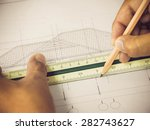 architectural blueprint of