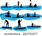 rowing vector silhouette | Shutterstock .eps vector #282753377