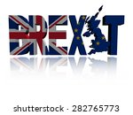 brexit text with british and eu ... | Shutterstock . vector #282765773