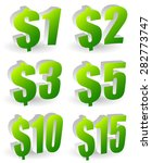 3d price tags from  1 to  15 in ... | Shutterstock .eps vector #282773747