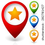 Map Marker With Star. Favorite...