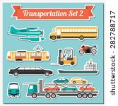 set of all types of transport... | Shutterstock .eps vector #282788717