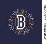 calligraphic monogram design...   Shutterstock .eps vector #282789983