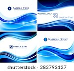 abstract blue background  set | Shutterstock .eps vector #282793127