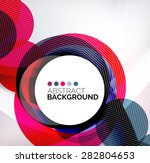 colorful circles modern... | Shutterstock . vector #282804653