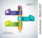 abstract 3d modern template... | Shutterstock .eps vector #282811247