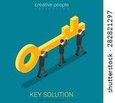 business movement towards... | Shutterstock .eps vector #282821297