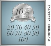 anniversary platinum label with ... | Shutterstock .eps vector #282837923