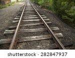 old railway tracks | Shutterstock . vector #282847937