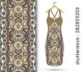 vector fashion illustration ... | Shutterstock .eps vector #282855203