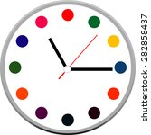 creative clock design modern... | Shutterstock .eps vector #282858437